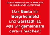 """""""Das Beste für Bergrheinfeld und Garstadt ist, was wir gemeinsam daraus machen!"""""""